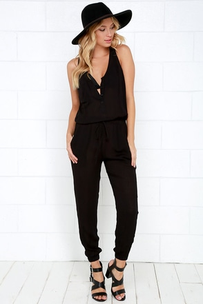 Big City Dreams Black Jumpsuit at Lulus.com!