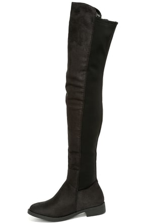 Have to Half It Black Over the Knee Boots at Lulus.com!