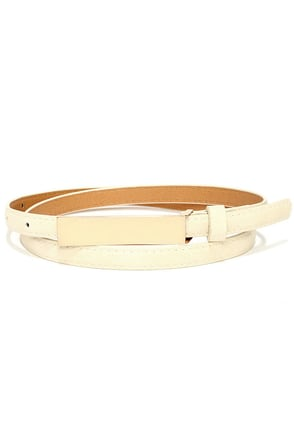 Low Profile Cream and Gold Belt at Lulus.com!
