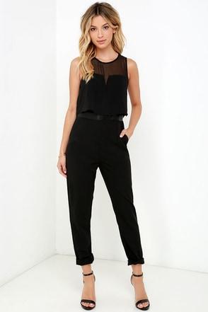 Strong Suit Black Jumpsuit at Lulus.com!