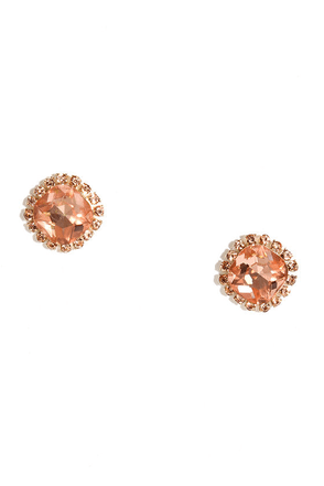 Shine With Me Clear Rhinestone Earrings at Lulus.com!