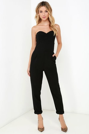 Electric Boogaloo Red Strapless Jumpsuit at Lulus.com!