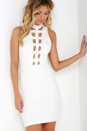 Expert-tease Ivory Bodycon Dress at Lulus.com!
