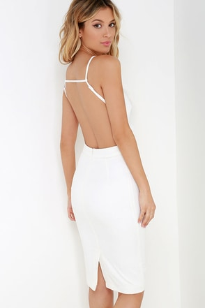 Anything For You Black Backless Dress at Lulus.com!