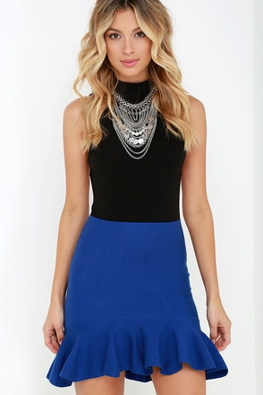 Little Wanderer Black Trumpet Skirt at Lulus.com!