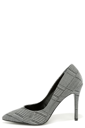 Charles by Charles David Pact Navy Plaid Pumps at Lulus.com!