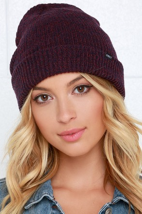 Obey Arcadia Plum Purple Beanie at Lulus.com!