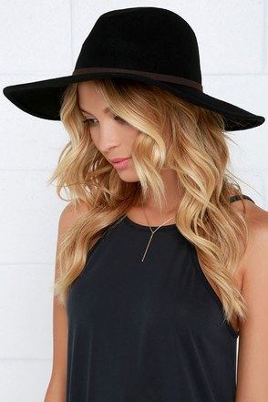 Billabong Moon Gaze Black Fedora Hat at Lulus.com!