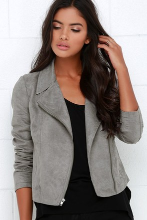 Jack by BB Dakota Berk Grey Suede Jacket at Lulus.com!