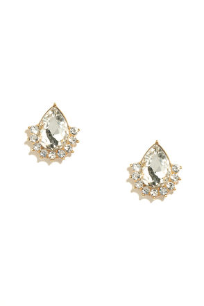 Delicate Diligence Clear Rhinestone Earrings at Lulus.com!