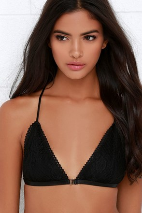 Letters to Cupid Black Lace Bralette at Lulus.com!