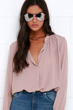 That Certain Something Mauve Top at Lulus.com!