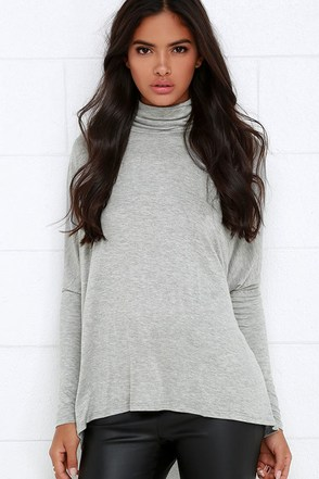 Project Social T Fly on By Heather Grey Turtleneck Top at Lulus.com!
