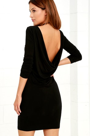 Right Back Atcha' Black Long Sleeve Dress at Lulus.com!