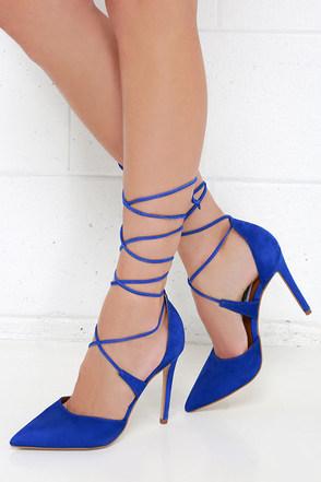 Steve Madden Raela Blush Leather Pointed Lace-Up Heels at Lulus.com!