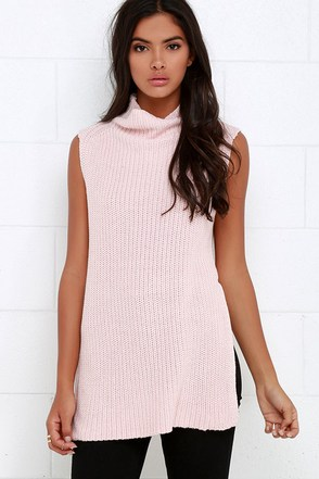 Far Side Black Sleeveless Sweater Top at Lulus.com!