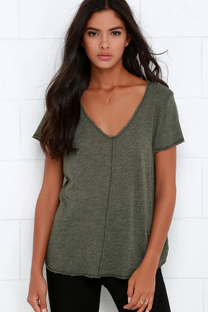 Project Social T Peace Offering Olive Green Tee at Lulus.com!