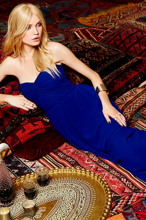 Sapphires or Rubies Royal Blue Strapless Maxi Dress at Lulus.com!