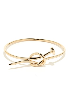 Hammer Time Gold Nail Bracelet at Lulus.com!