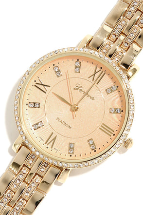 From Time To Time Gold Watch at Lulus.com!