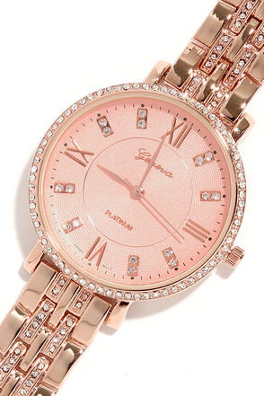 From Time To Time Rose Gold Watch at Lulus.com!