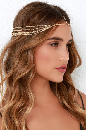 Knight and Day Gold Headpiece at Lulus.com!