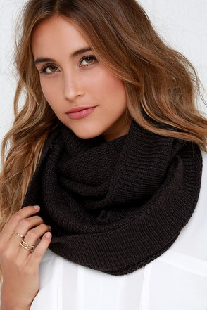 Let's Make Knit Happen Charcoal Grey Infinity Scarf at Lulus.com!