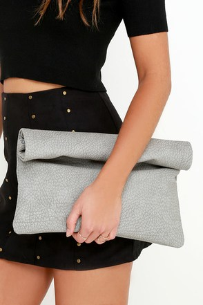 For the Fun of It Grey Clutch at Lulus.com!