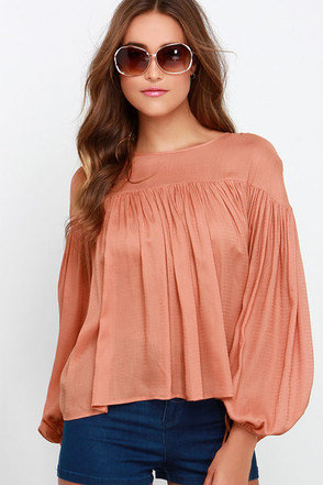 Livin' on a Prairie Terra Cotta Peasant Top at Lulus.com!