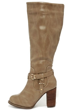 Moto Maven Wine Red Knee High Heel Boots at Lulus.com!
