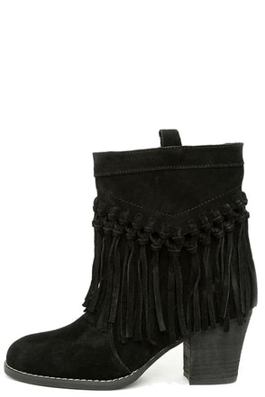 Sbicca Sound Khaki Suede Leather Fringe Boots at Lulus.com!