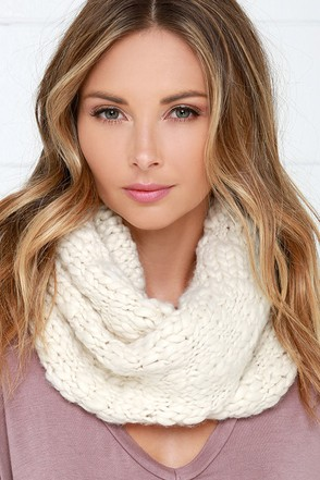 Knit's All Good Cream Infinity Scarf at Lulus.com!