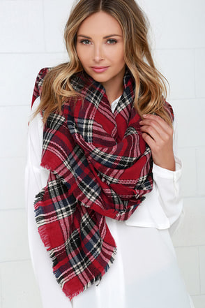 Scots Honor Red Plaid Scarf at Lulus.com!