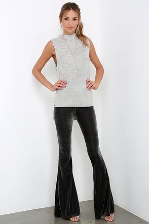 Shagadelic Burgundy Velvet Flare Pants at Lulus.com!