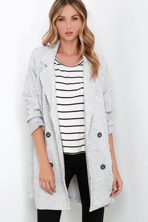 Static Attraction Grey Jacket at Lulus.com!