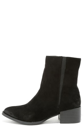 Let It Be Chic Black Pointed Mid-Calf Boots at Lulus.com!
