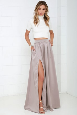 'Twas a Dream Blush Maxi Skirt at Lulus.com!
