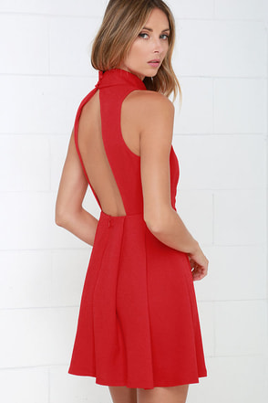 Back For More Red Skater Dress at Lulus.com!