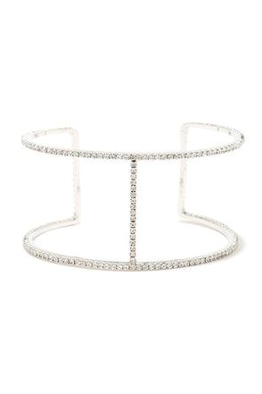 Take a Glint Silver Rhinestone Bracelet at Lulus.com!