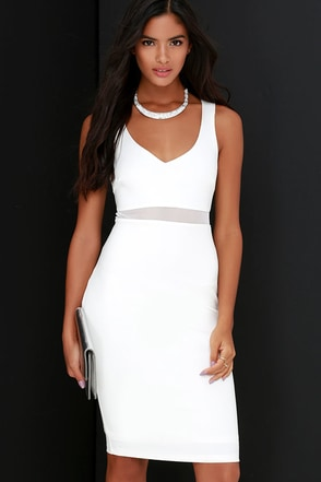 Best Meshed Black Midi Dress at Lulus.com!