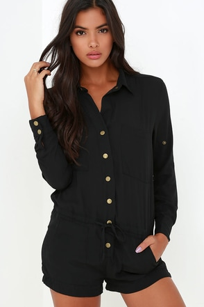 Master Plan Olive Green Romper at Lulus.com!