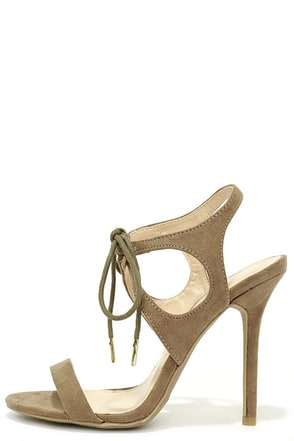 Forever Young Taupe Lace-Up Heels at Lulus.com!