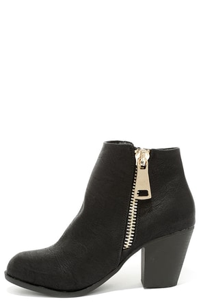 Got What You Want Black Ankle Boots at Lulus.com!