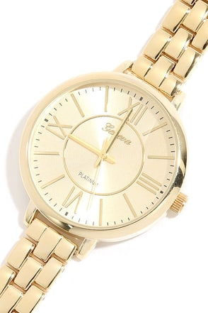 Borrowed Time Gold Watch at Lulus.com!