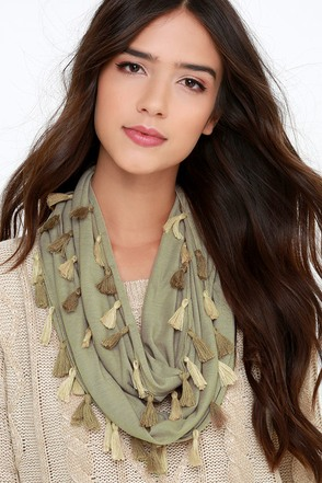 Former and the Flatter Khaki Infinity Scarf at Lulus.com!