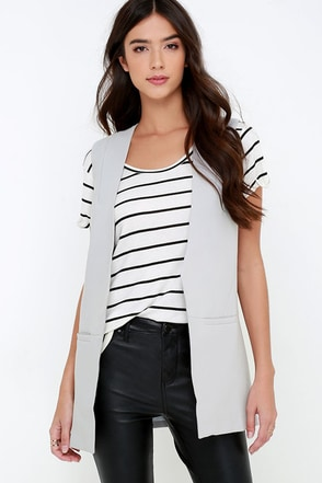 Made for Manhattan Grey Vest at Lulus.com!