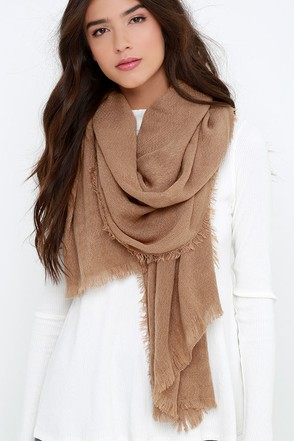 Second Star to the Right Tan Scarf at Lulus.com!