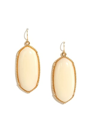 Magnum Opal Cream Earrings at Lulus.com!
