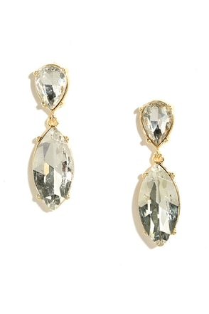 Prime Shine Gold Rhinestone Earrings at Lulus.com!