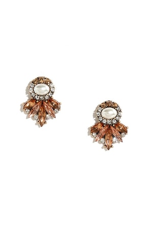 Perfectly Precious Green Rhinestone Earrings at Lulus.com!